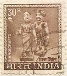 Sellos de Asia - India -  HANDICRAFTS