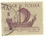Sellos de Europa - Polonia -  Koga Nao siglo XIV