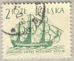 Sellos de Europa - Polonia -  Liniowiec-okret  Galeon siglo XVIII