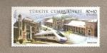 Sellos de Asia - Turquía -  Estación de tren