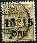 Stamps Denmark -  Sellos de 1875-1901 habilitados con nuevo valor