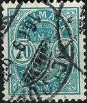 Stamps Denmark -  Cifras de las esquinas grandes
