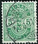 Stamps Europe - Denmark -  Cifras de las esquinas grandes