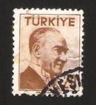 Stamps Africa - Turkey -  mustafa kemal ataturk, presidente