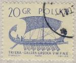 Sellos del Mundo : Europa : Polonia : Triera Galera griega Siglo V AC