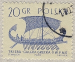 Stamps Europe - Poland -  Triera Galera griega Siglo V AC