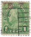 Stamps United States -  Benjamin Franklin.