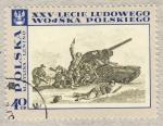 Stamps Poland -  XXV-Leche Ludowego M.Bylina.Lenino