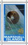 Stamps Oceania - Marshall Islands -  1989 Exploracion espacial: 1er satelite artificial 1957