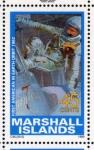 Stamps Oceania - Marshall Islands -  1989 Exploracion espacial: 1er americano en orbitar la tierra 1962
