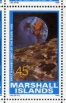 Stamps Oceania - Marshall Islands -  1989 Exploracion espacial: 1er vuelo orbital tripulado a la Luna 1968