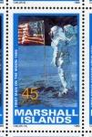Stamps Oceania - Marshall Islands -  1989 Exploracion espacial: 1er hombre sobre la Luna 1969