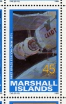 Stamps Oceania - Marshall Islands -  1989 Exploracion espacial: 1ª estacion espacial tripulada 1971