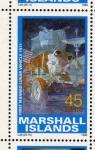 Stamps Oceania - Marshall Islands -  1989 Exploracion espacial: 1er vehiculo lunar tripulado 1971