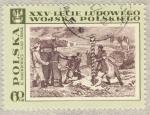 Stamps Poland -  XXV-Leche Ludowego K.Mackiewich.Nad Odba
