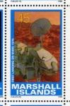 Stamps Oceania - Marshall Islands -  1989 Exploracion espacial: 1er aterrizaje suave en Marte1976
