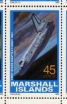 Stamps Oceania - Marshall Islands -  1989 Exploracion espacial: 1er vuelo del transbordador espacial 1981