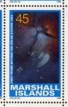 Stamps Oceania - Marshall Islands -  1989 Exploracion espacial: 1er vuelo mas alla del Sistema Solar 1983