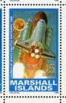 Stamps Oceania - Marshall Islands -  1989 Exploracion espacial: 1er vuelo del transbordador Discovery 1988