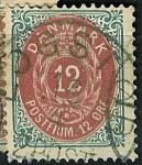 Sellos de Europa - Dinamarca -  Tipo de 1870, valor en ÖRE