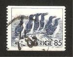 Stamps Sweden -  fauna, pinguinos