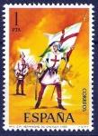 Stamps Spain -  Uniformes militares. Orden de la Santa Hermandad de Castilla, año 1488.