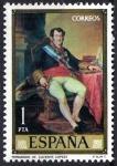 Stamps Spain -  Dia del Sello. Vicente López  Portaña. Fernando VII