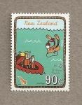 Stamps New Zealand -  Un día en la playa