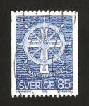 Sellos del Mundo : Europa : Suecia : timon marinero