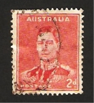 Stamps : Oceania : Australia :  rey jorge VI