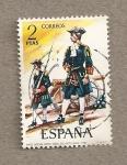 Stamps Spain -  Oficial de artillería 1710