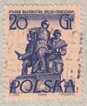 Stamps Europe - Poland -  Pomnik Braterstwa Broni.Warszawa 20gr 1969
