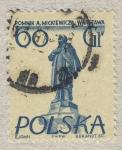 Stamps Europe - Poland -  Pomnik A.Mickiewicza.Warszawa