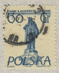 Sellos del Mundo : Europa : Polonia : Pomnik A.Mickiewicza.Warszawa