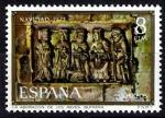 Sellos de Europa - España -  Navidad-1973. Adoración de los Reyes,Iglesia de Butrera, Burgos.