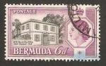 Stamps America - Bermuda -  oficina de correos en w.b. perost