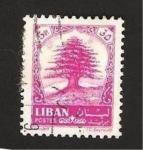 Sellos de Asia - Líbano -  cedro libanes