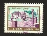 Sellos del Mundo : Asia : Líbano : templo en ruinas en beit mery