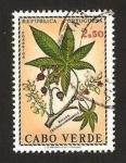 Sellos del Mundo : Africa : Cabo_Verde : flora, ricino