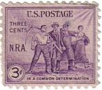 Stamps United States -  Ley de Recuperación Nacional.