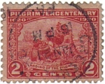 Stamps United States -  Landing of the Pilgrims.