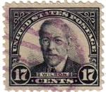 Sellos de America - Estados Unidos -  Woodrow Wilson.