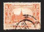 Sellos del Mundo : Asia : Myanmar : palacio