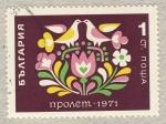 Sellos de Europa - Bulgaria -  pajaros en flor