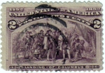 Sellos de America - Estados Unidos -  1492-1892 Landing of Columbus.