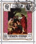 Sellos de Asia - Yemen -  1969 Vida de Cristo: Resurreccion de Lazaro. Rubens