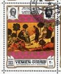 Stamps Yemen -  1969 Vida de Cristo: La oracion en el huerto. Duccio Buoninsegna