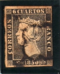 Sellos del Mundo : Europa : España : 1850 Isabel II edifil 1
