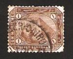 sellos de Africa - Egipto -  esfinge y piramide