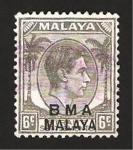 Sellos de Asia - Malasia -  jorge VI